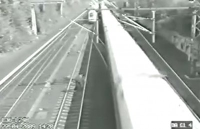 Man is incredibly lucky – Escapes two hi Speed Trains