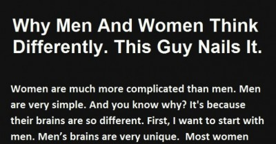 The Wisdom about how the brain of Men and Women work